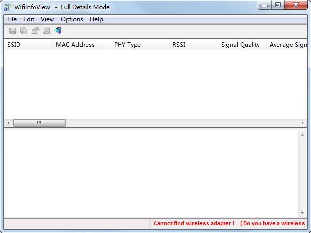 WifiInfoView(无线网络扫描软件) V2.40 绿色英文版